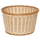 GET WB-1521-TT Designer Polyweave Plastic Round Basket 12 inch x 7 inch - 6/Pack