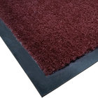 Cactus Mat 1438M-R31 Tuf Plush 3' x 10' Olefin Carpet Entrance Floor Mat - Burgundy
