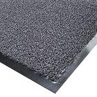 Cactus Mat 1366R-E4 Vinyl-Loop 4' x 60' Gray Scraper Floor Roll - 3/8 inch Thick