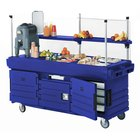 Cambro CamKiosk KVC856186 Navy Blue Vending Cart with 6 Pan Wells