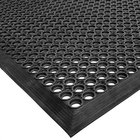 Cactus Mat 2530-C20 VIP TopDek Junior 3' x 19' 6 inch Black Rubber Anti-Fatigue Floor Mat - 1/2 inch Thick