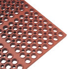 """Cactus Mat 2521-R3S VIP Lite 29"""" x 39"""" Red Grease-Resistant Rubber Anti-Fatigue Floor Mat - 1/2"""" Thick"""