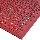 Cactus Mat 2540-R35 VIP Guardian 3' x 5' Red Grease-Proof Anti-Fatigue Floor Mat - 1/4