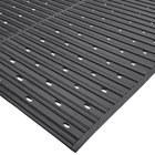 Cactus Mat 1631R-C3V Ni-Rib 3' x 60' Black Perforated Nitrile Rubber Runner Mat Roll - 1/4 inch Thick
