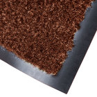 Cactus Mat 1462R-CB6 Catalina Premium-Duty 6' x 60' Chocolate Brown Olefin Carpet Entrance Floor Mat Roll - 3/8 inch Thick