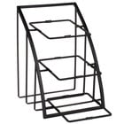 Cal-Mil 1750-13 Mission 10 inch Black Square Bowl Display Stand - 12 inch x 19 inch x 13 1/2 inch