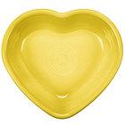 Homer Laughlin 747320 Fiesta Sunflower 9 oz. Heart Bowl - 4/Case