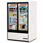 True GDM-33CPT-54-LD Low Profile Narrow Sliding Door Pass-Through Glass Door Merchandiser Refrigerator