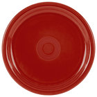 Homer Laughlin 749326 Fiesta Scarlet 9 inch Round Healthcare China Plate   - 12/Case