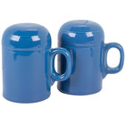 Homer Laughlin 756337 Fiesta Lapis Rangetop Salt and Pepper Shaker Set - 4/Case