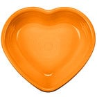 Homer Laughlin 747325 Fiesta Tangerine 9 oz. Heart Bowl - 4 / Case