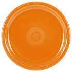 Homer Laughlin 749325 Fiesta Tangerine 9 inch Round Healthcare Plate - 12 / Case
