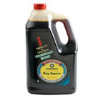 Kikkoman Traditionally Brewed Soy Sauce 1 Gallon Container   - 4/Case