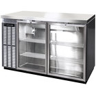 Continental Refrigerator BBC50-SS-GD 50 inch Stainless Steel Glass Door Back Bar Refrigerator