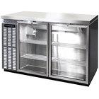 Continental Refrigerator BB50NSSGD 50 inch Stainless Steel Glass Door Back Bar Refrigerator