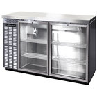Continental Refrigerator BB50SNSSGD 50 inch Stainless Steel Shallow Depth Glass Door Back Bar Refrigerator