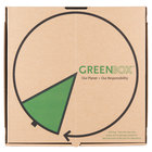 "GreenBox 18"" x 18"" x 1 3/4"" Corrugated Recycled Pizza Box with Built-In Plates and Storage Container - 50/Bundle"