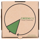 "GreenBox 10"" x 10"" x 1 3/4"" Corrugated Recycled Pizza Box with Built-In Plates and Storage Container - 50/Bundle"