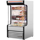 True TAC-14GS-LD 30 inch Stainless Steel Refrigerated Glass Sided Air Curtain Merchandiser