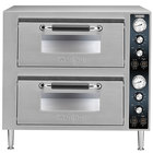 Waring WPO750 Double Deck Countertop Pizza Oven with Two Independent Chambers - 240V