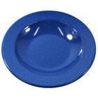 Elite Global Solutions D878PB-BC Base Camp 12 oz. Blue Round Speckle Pasta / Soup Bowl - 6/Case