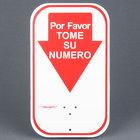 Turn-O-Matic 106000120 Por Favor Tome Su Numero Sign