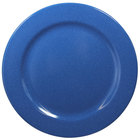 Elite Global Solutions D775PL-BC Base Camp 7 3/4 inch Blue Speckle Round Melamine Plate - 6/Case