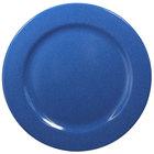 Elite Global Solutions D1075PL-BC Base Camp 10 3/4 inch Blue Speckle Round Melamine Plate - 6/Case