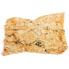 Elite Global Solutions QS1611 Fo Granite Rust Granite 16 inch x 11 inch Irregular Shape Display Stone Platter