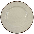 Elite Global Solutions D1025M Mojave Vintage California 10 1/2 inch Vanilla Round Crackle Melamine Plate