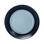 Elite Global Solutions D897GM Durango 9 inch Abyss & Lapis Round Two-Tone Melamine Plate - 6/Case