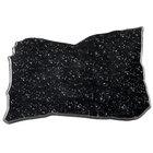 Elite Global Solutions QS1611 Rocky Mountain High Black Granite 16 inch x 11 inch Irregular Shape Display Stone Platter
