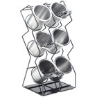 Cal-Mil 1025-6-13 Black Six Compartment Vertical Wire Display