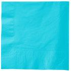 Creative Converting 581039B Bermuda Blue 3-Ply 1/4 Fold Luncheon Napkin - 500/Case