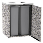 Lakeside 3412 Stainless Steel Refuse / Recycling Station with Top Access and Gray Sand Laminate Finish - 26 1/2