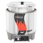 """Vollrath 72018 Cayenne 7 Qt. Round """"Heat n' Serve"""" Rethermalizer / Warmer Package with Inset and Cover - 120V, 800W"""