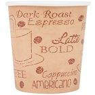 Choice 4 oz. Café Print Poly Paper Hot Cup - 1000/Case