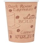 Choice 8 oz. Café Print Poly Paper Hot Cup - 50/Pack