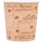 Choice 4 oz. Café Print Poly Paper Hot Cup - 50/Pack