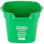 San Jamar KP320GN 10 Qt. Green Cleaning Kleen-Pail