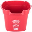 San Jamar KP320RD 10 Qt. Red Sanitizing Kleen-Pail