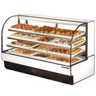 True TCGD-77 77 inch White Dry Bakery Display Case - 37 Cu. Ft.
