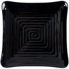 GET ML-62-BK Milano 8 3/4 inch Black Melamine Square Plate - 12/Pack