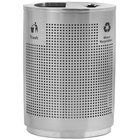 Commercial Zone 782429 Precision 40 Gallon Grand Recycler Stainless Steel Trash / Recycling Receptacle