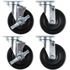 5 inch Replacement Swivel Plate Casters - 4/Set