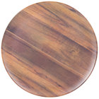 Carlisle EAG0669 Epicure Acacia 18 inch Woodgrain Round Platter - 6/Case