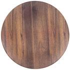 "Carlisle EAG1069 Epicure Acacia 19 1/4"" Woodgrain Round Platter   - 2/Case"