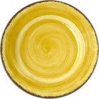 Carlisle 5400113 Mingle 11 inch Amber Round Melamine Plate - 12/Case