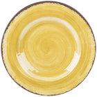 Carlisle 5400213 Mingle 9 inch Amber Round Melamine Salad Plate - 12/Case