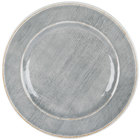 Carlisle 6400118 Grove 11 inch Smoke Round Melamine Plate - 12/Case